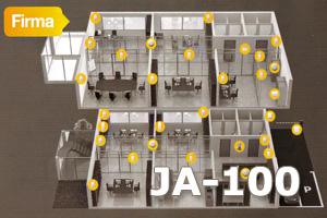 Jablotron 100 inaczej JA-100 jest doskonałym rozwiązaniem do dużych obiektów typu biuro czy firma.